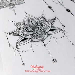 6 Lotus mandala - download tattoo design #1