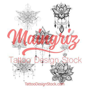 sexy lotus mandala for sleeve tattoo created by tattoo artist