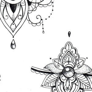 half sleeve Mandala Forearm tattoo design created by tattoo artist