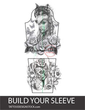 Load image into Gallery viewer, amazing mockup for create you sleeve tattoo design created by tattoo artist
