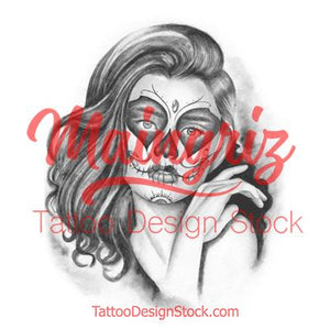 catrina tattoo design high resolution download created by tattoo artist