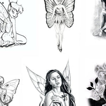 Load image into Gallery viewer, Amazing fairies tattoo design high resolution download