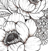 Load image into Gallery viewer, sexy peony mandala half sleeve tattoo design