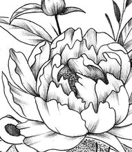 Load image into Gallery viewer, peony mandala half sleeve tattoo design created by tattoo artist