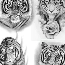 Load image into Gallery viewer, realistic tigers for amazing sleeve tattoo by tattoodesignstock.com