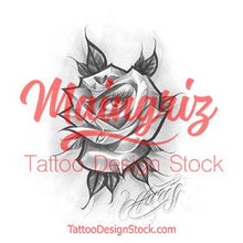 Load image into Gallery viewer, rose and eye chicano tattoo design