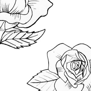 5 linework minimalist roses digital tattoo design references