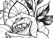 Load image into Gallery viewer, Oriental rose tattoo design references