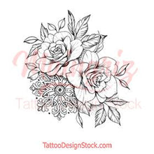 Load image into Gallery viewer, Oriental Roses tattoo design references high resolution download