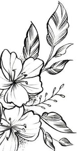 sexy flowers sideboob tattoo design digital downlaod by tattoo artist