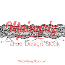 Load image into Gallery viewer, sexy lace garter tattoo design high resolution download