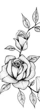 Load image into Gallery viewer, 2 roses sideboob tattoo design digital download by tattoo artist