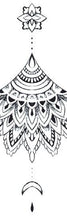 Load image into Gallery viewer, mandala oriental tattoo design digital download by tattoo artist