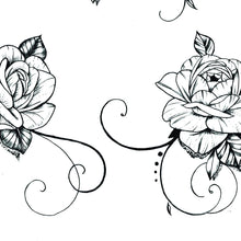Load image into Gallery viewer, 5 Roses side boobs tattoo design high resolution download