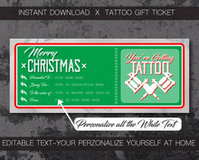 "Load image into Gallery viewer, Merry Christmas ""English"" - Tattoo Gift Vouchers"