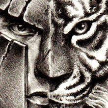 Load image into Gallery viewer, tiger and spartan tattoo design high resolution download