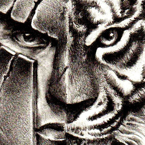 tiger and spartan tattoo design high resolution download