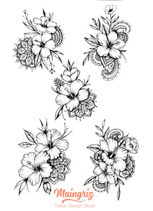 Hibiscus Mandala tattoo design