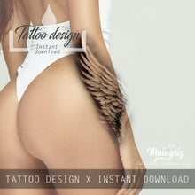Load image into Gallery viewer, wing sleeve half sleeve tattoo design