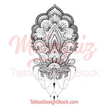 Load image into Gallery viewer, sexy wrist mandala half sleeve tattoo design references created by tattoo artist