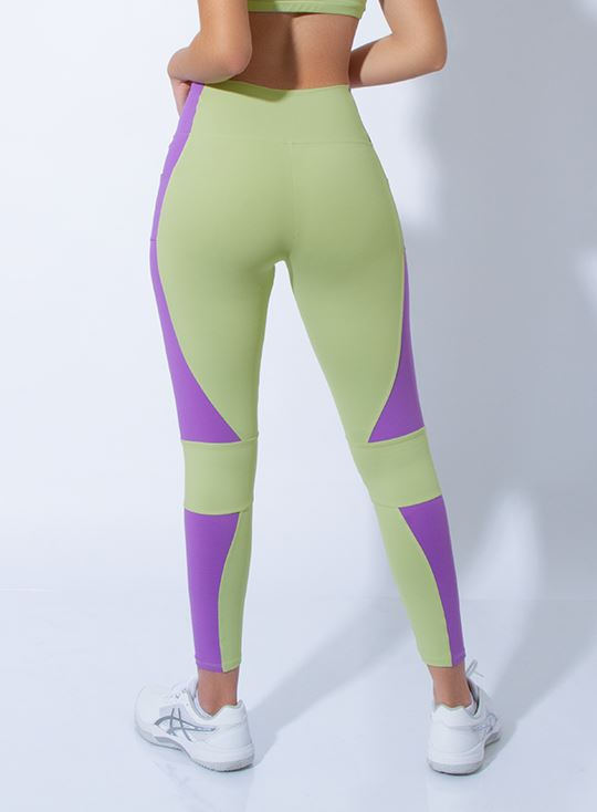 Legging Essencial - Spring green / Lavanda LEGGINGS WINropadeportiva