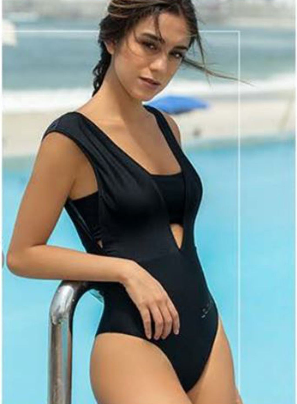ONE PIECE SHOWY - CROMO/NEGRO SUPER SALE 30%OFF WIN