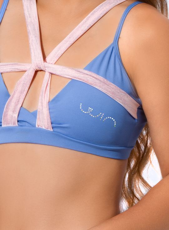 Top Active - Azul Anil / Rosa Line TOPS WINropadeportiva