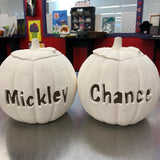CUSTOM ORDER - Large Personalized Pumpkin