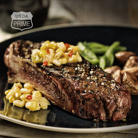 Black Label Strip Loin Steaks – Bone-in
