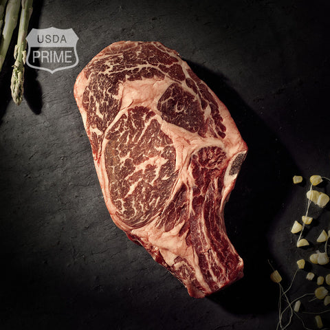 Black Label Ribeye Steaks – Bone-in