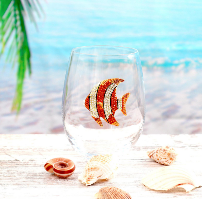 The Queens' Jewels Stemless Gold Tropical Fish