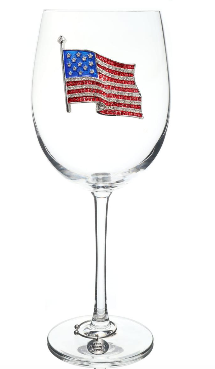 The Queens' Jewels Stemmed Flag Wine Glass