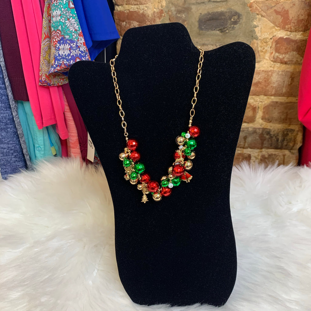 Jingle Bell & Holiday Charm Necklace