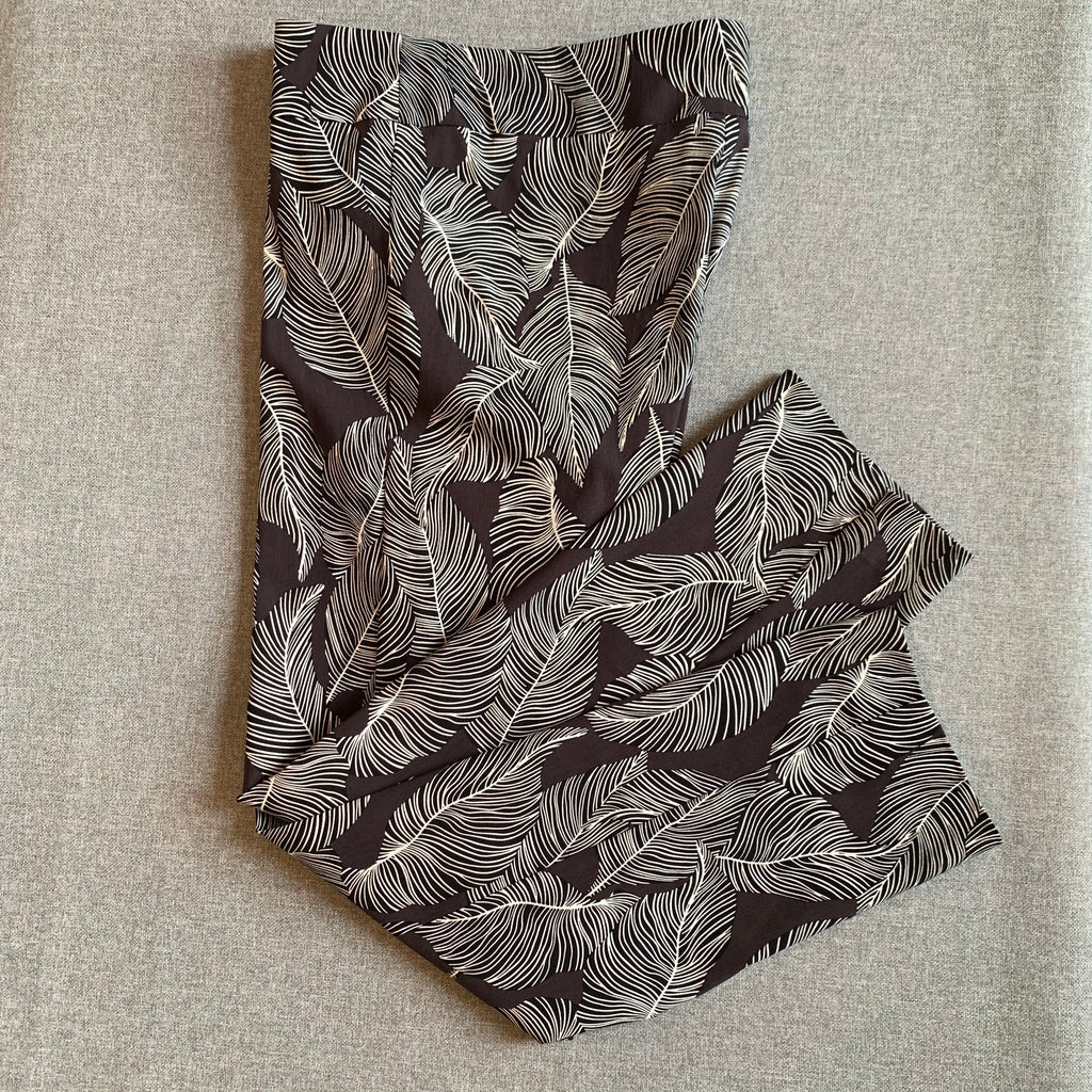 Krazy Larry Black Feather Ankle Pant