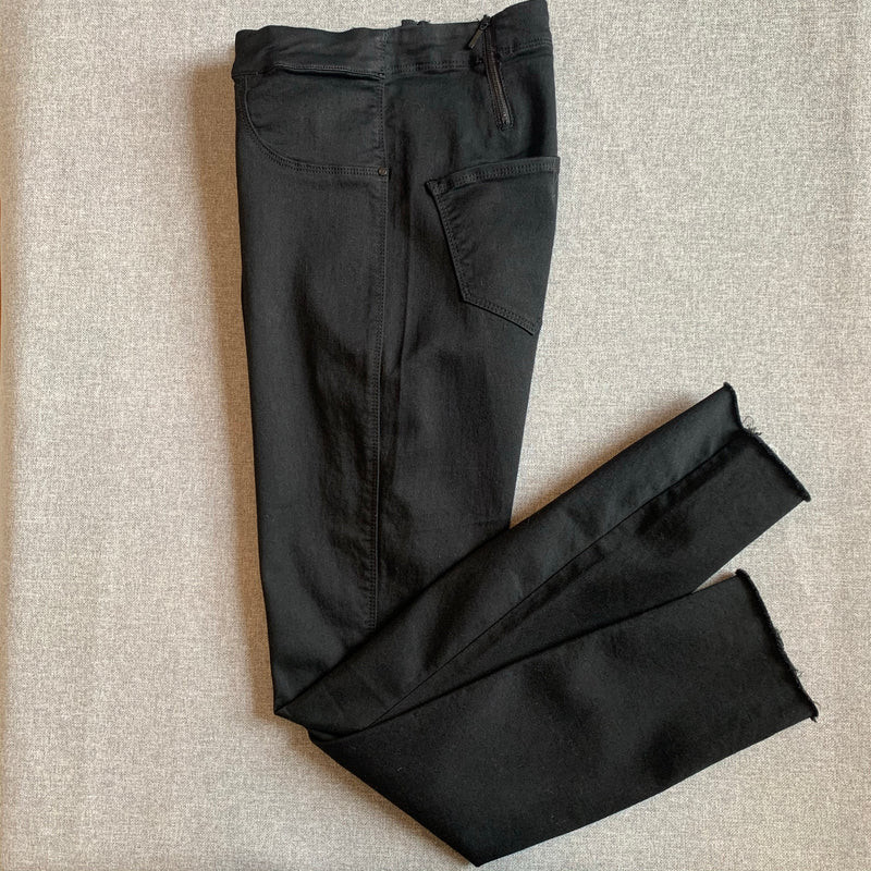 Convi Black Skinny Jean with Frayed Hem