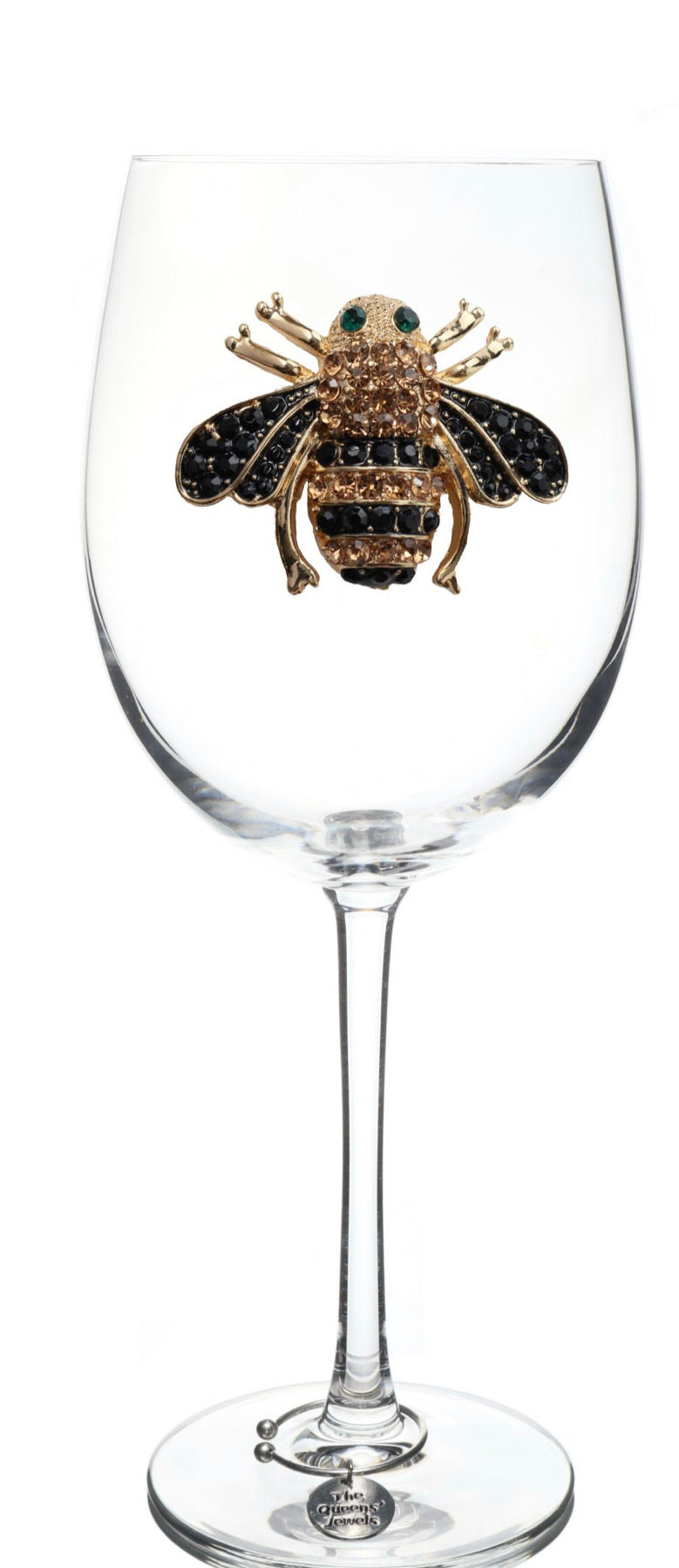 The Queens' Jewels Stemmed Bee Wine Glass