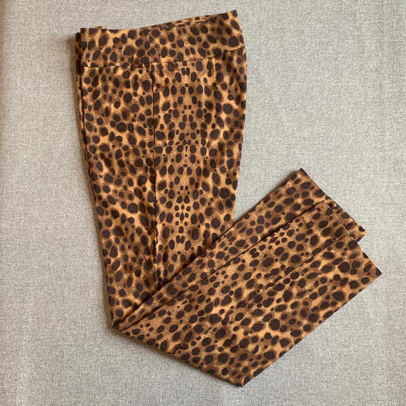 Krazy Larry Brown Cheetah Ankle Pant
