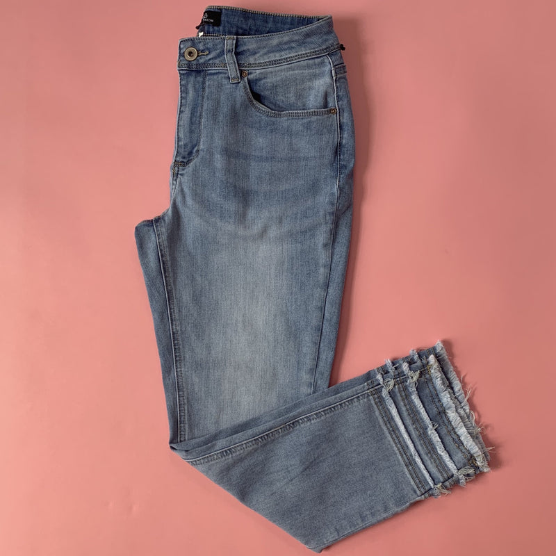 Charlie B Jean with Triple Fringed Trim
