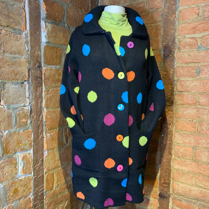 Elena Wang Multi Polka Dot Cardigan