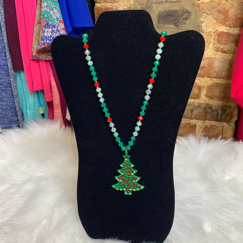 Reversible Holiday Tree Pendant