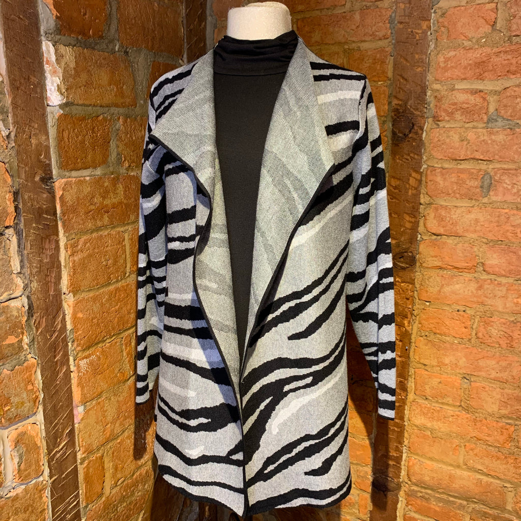 Alison Sheri Abstract Animal Cardigan