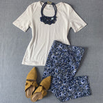 Eric Casual Floral Pull-on Capri