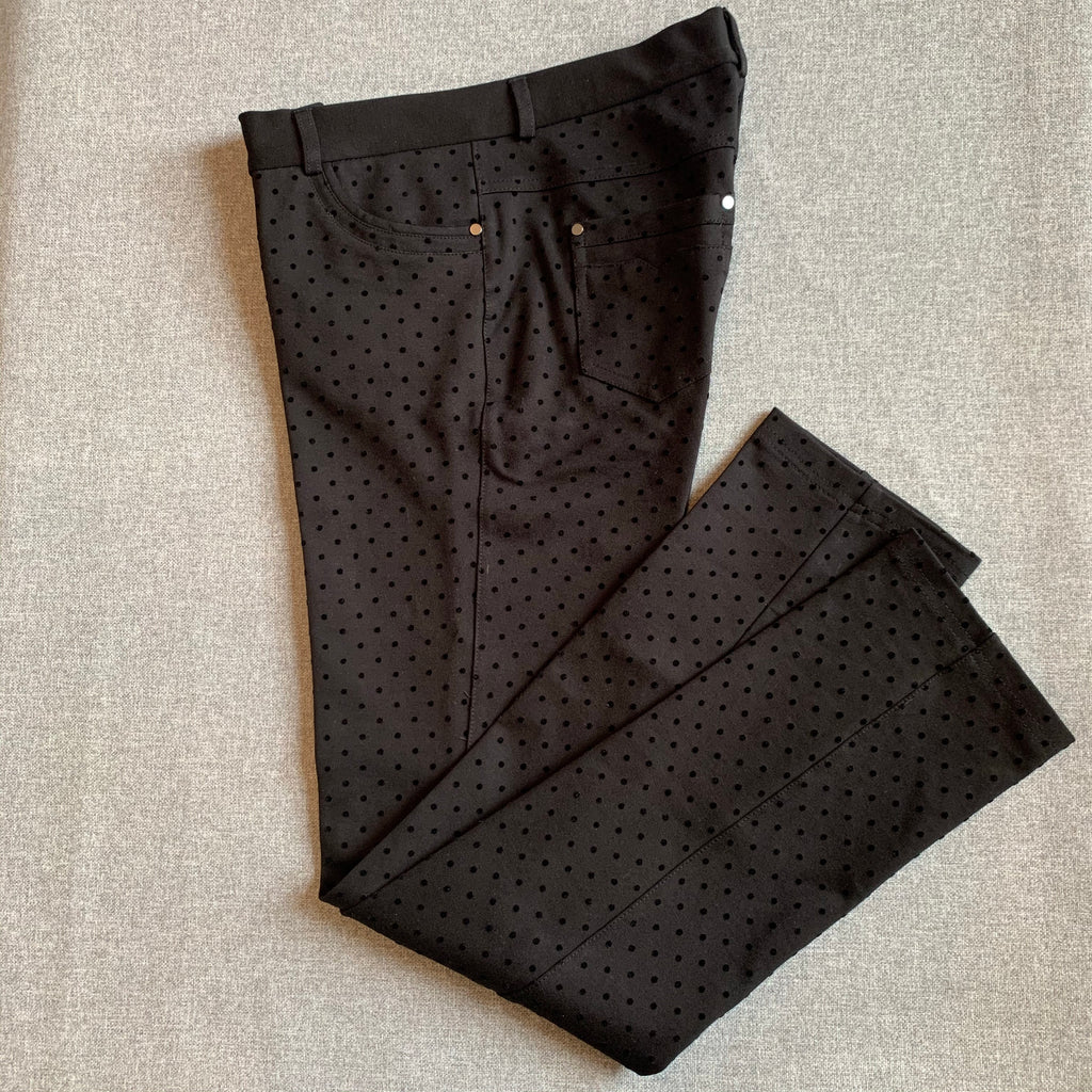 INSIGHT Black Flocked Dot Pant
