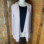 Pure Essence Blush Pink Hooded Cardigan