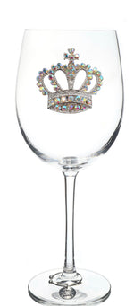 The Queens' Jewels Stemmed Aurora Borealis Crown Wine Glass