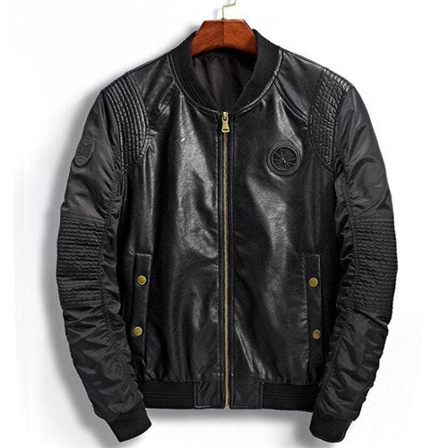 Leather Jacket Coat Clothes