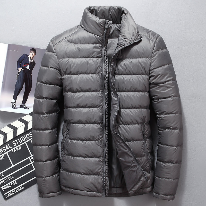 Winter Men's White Down Jacket