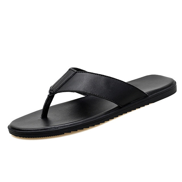 Beach Leather Soft Slippers