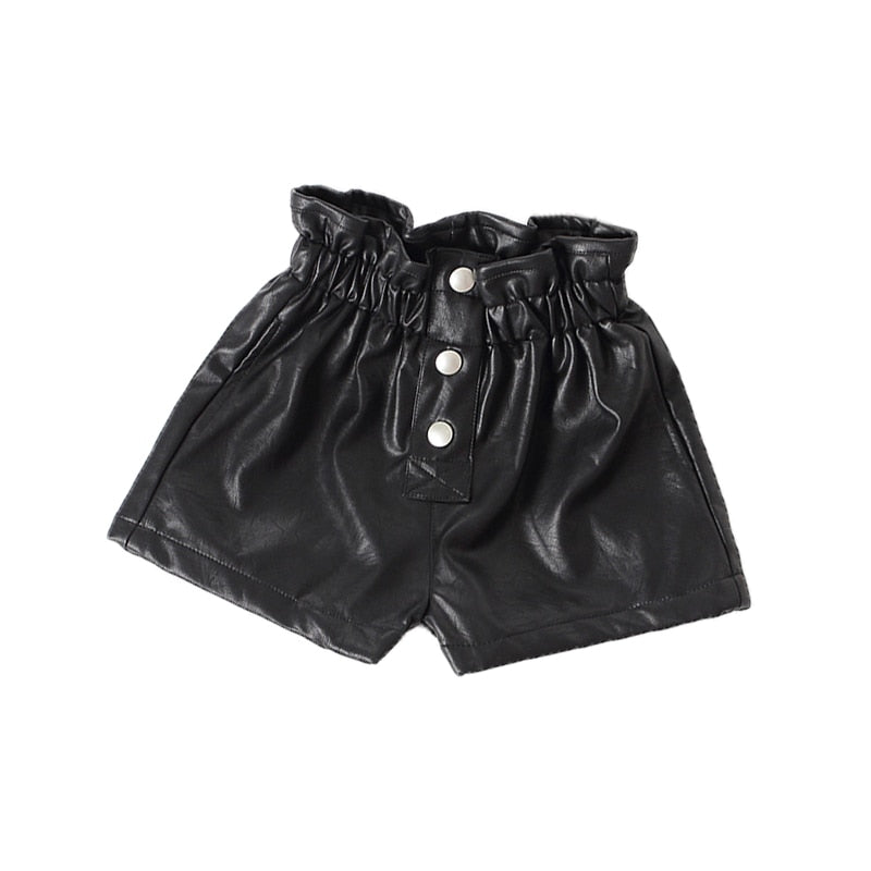 Children short leather Pants