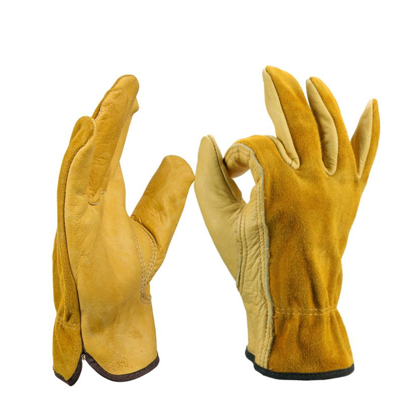 Faux Leather Work Gloves